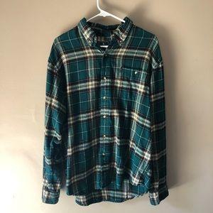 G.H. Bass & Co. - Green Plaid Flannel Shirt